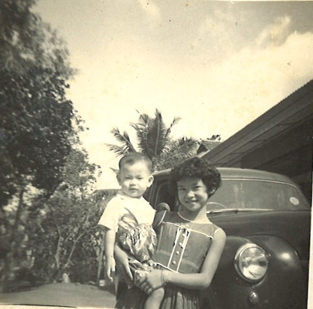 EtonHouse Founder Mrs Ng Gim Choo, 1962, with youngest sister.jpg