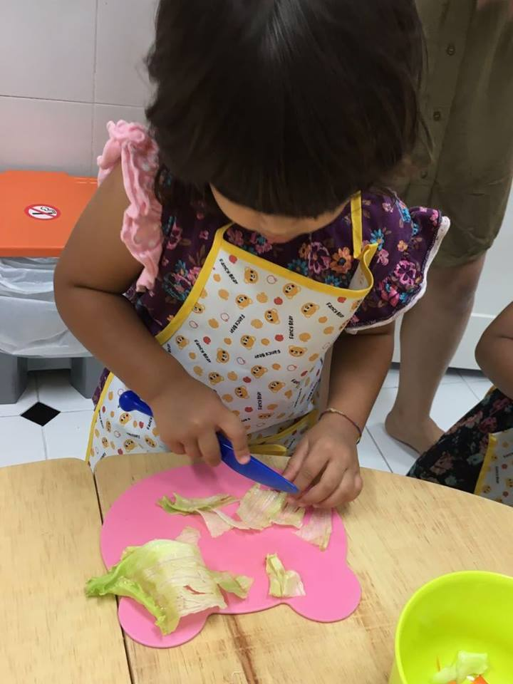 EtonHouse Blog - Cookery lab at EtonHouse Pre-School Mountbatten 717 allows children to harvest their own fresh produce and learn firsthand